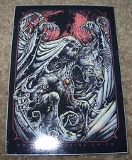 """GODMACHINE Sticker 3 X 4"""" Clubs House Of Cards decal like poster art print"""