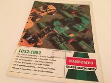 RANSOMES Grass Machinery 1982 Mowers Gangs Well Illustrated Vintage Brochure