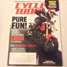 Cycle World Magazine Honda's Grom Yamaha FZ-09 Triple December 2013 061617nonrh