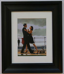 Anniversary Waltz by Jack Vettriano Framed & Mounted Art Print Black Frame