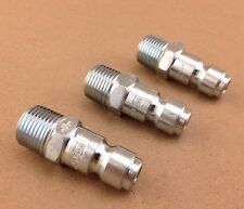 """Lot of 3 Amflo Cp5 Air Coupler 3/8"""" Male Plug Steel 3/8"""" Tf 3/8"""" Mpt Ships Free"""