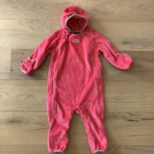 The North Face Infant Girls Size 12-18 Months Buttery Suit Fleece Bunting Pink
