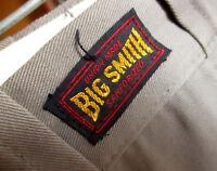 29x32 NWOT True Vtg 50s BIG SMITH ARMY TWILL SANFORIZED GRAY CHINOS WORK PANTS