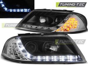 VW Passat 3BG Scheinwerfer LED Tagfahrlicht Optik LED Blinker Schwarz Bj.00-2005