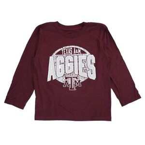 "Texas A&M Aggies NCAA Outerstuff Boys Maroon ""Totally Cool"" Long Sleeve T-Shirt"