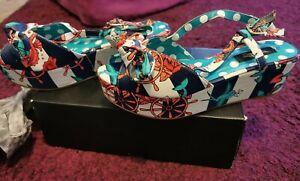 Iron Fist She Sells Peeptoe Platform Sandal Size 40 Retro Rockabilly