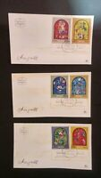 Lot of 3 Old Israel Covers Envelopes with Stamps 1973