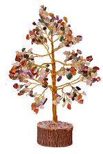 Multistone Stone Spiritual Reiki Feng Shui Tree Table Décor Healing Crystal