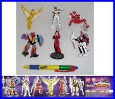 SET 6 Figure POWER RANGERS DINO THUNDER Part 2 Bandai GASHAPON Figures SENTAI !!