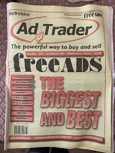 Yorkshire Ad Trader - Was Free Ads 15-21 August 2001 Weds Edition