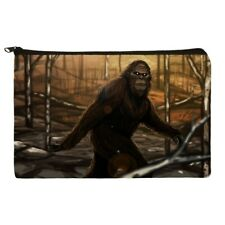 Bigfoot Sasquatch Walking in the Woods Makeup Cosmetic Bag Organizer Pouch