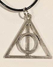 DEATHLY HALLOWS NECKLACE Harry Potter Hogwarts Wizard Sirius Death Symbol Large
