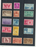 15 Different Mint NH US Vintage 3¢ Old Time Commemoratives Great Gift Idea