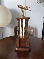 Vintage ART DECO Airplane Aviation Plane Trophy Brass Screw On Bottom