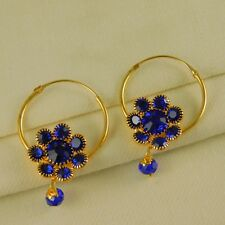 Indian Goldplated Wedding Traditional Hoop Bollywood Earrings Fashion Jewelry