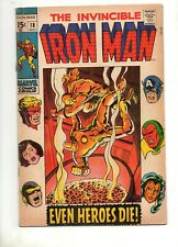 Iron Man #18 AVENGERS CROSS-OVER APP! 2ND MADAME MASQUE & MIDAS! VG/Fn 5.0 1969