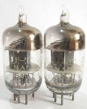 2 matched 1953 Sylvania JHS-6AJ5 (6AK5,5654,403B,6J1) tubes - TV7D tested @30,30