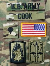 6 US ARMY patch Set ACU Multicam OCP Uniform Konvolut SPC Flagge USA COOK