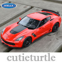 Welly 2017 Chevrolet Corvette Z06 1:24 Diecast Model Car 24085-4D Red