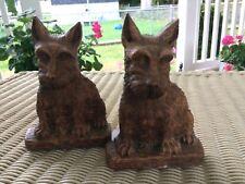 Bookends Scottie Dog - Scottish Terrier Orna Wood Vintage Bookends