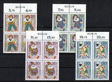 Berlin LUXUS 373 - 376 ** mit Zudruck VB postfrisch Viererblöcke 1970 MNH