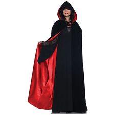 Underwraps Black Velvet Hooded Cape Renaissance Adult Halloween Costume