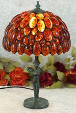 Luxus Bernsteinlampe Tischlampe Edelstein Lampe Bernstein Leuchte Tiffany Prunk