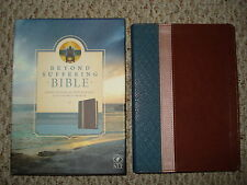 NEW Beyond Suffering Bible Joni Eareckson Tada NLT Version Teal Brown Rose Cover