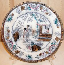 """~  'BW & Co'  Porcelain Plate 19THc England Chinoserie Marked, 9""""  ~"""