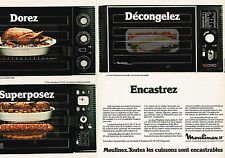 PUBLICITE  1980   MOULINEX    four encastrable  (2 pages)