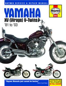 Haynes Manual 0802 Yamaha XV535DX XV750SE XV920R TR1 XV1000 XV1100S 1981-03