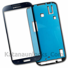 Vitre Écran Samsung Galaxy S4 SIV I9500 I9505 Noir avec Adhésif Front Glass