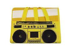 classique RADIO rayé jaune blanc noir grand TRANSPORT PLAGE Tapis 90cm x 180cm