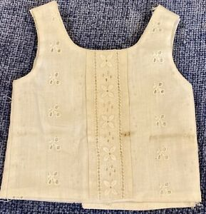 Antique Cotton Chemise For French Or German Bisque Doll
