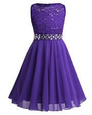 Flower Girl Dress Party Birthday Princess Communion Gown Rhinestone Romper Dress