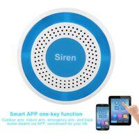 Wireless Home Sound Light Strobe Siren Water Leakage for WIFI GSM Alarm System