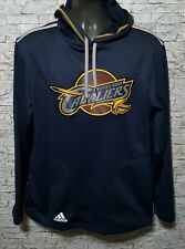 Adidas Cleveland Cavaliers Men's Blue Polyester Hooded Pullover Sweater Medium