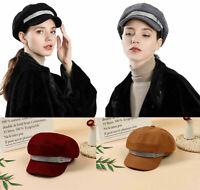 Ladies Girls Wool Blend Baker Boy Hat Womens Peaked Cap Newsboy XMAS Gift