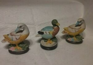 Vintage Ceramic Duck Figures Home Decor Preowned