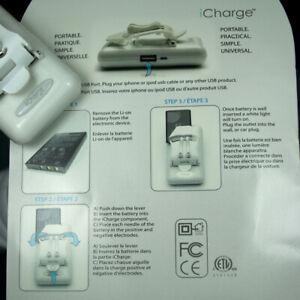 Original iCharge AC/USB/Universal  Battery power charger for Samsung/LG/