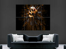 SKULL TIME ABSTRACT ART TRIPPY  ART LARGE WALL  POSTER  PRINT
