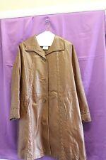 Venezia brown button down mid length jacket size 14w.
