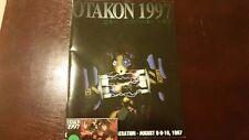 Rare  1997 Otakon Program Guide + name tag Mint - Anime Comic Con