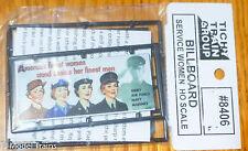 Tichy Train Group #8406 Service Women (Billboard kit) Plastic