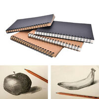 Reeves-Retro Spiral Bound Coil Sketch Book Blank Notebook Kraft Sketching Paper