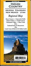 Map of Indian Country / Four Corners (AZ, CO, NM, UT), by GMJ Maps