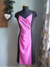 NEW Together Black & Magenta Pink Colour Block Dress - Size 12