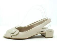 Gabor Sandals / Shoes Beige Leather Open Toe Low Block Heel UK 5 EU 38