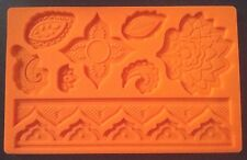 PAISLEY GLOBAL LACE ASIAN SILICONE FONDANT PASTE MAT MOULD ICING CAKE DEOCRATING