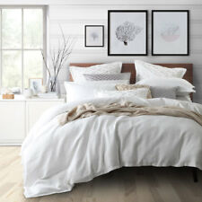 Private Collection Tristan White Queen Size Bed Doona Duvet Quilt Cover Set
